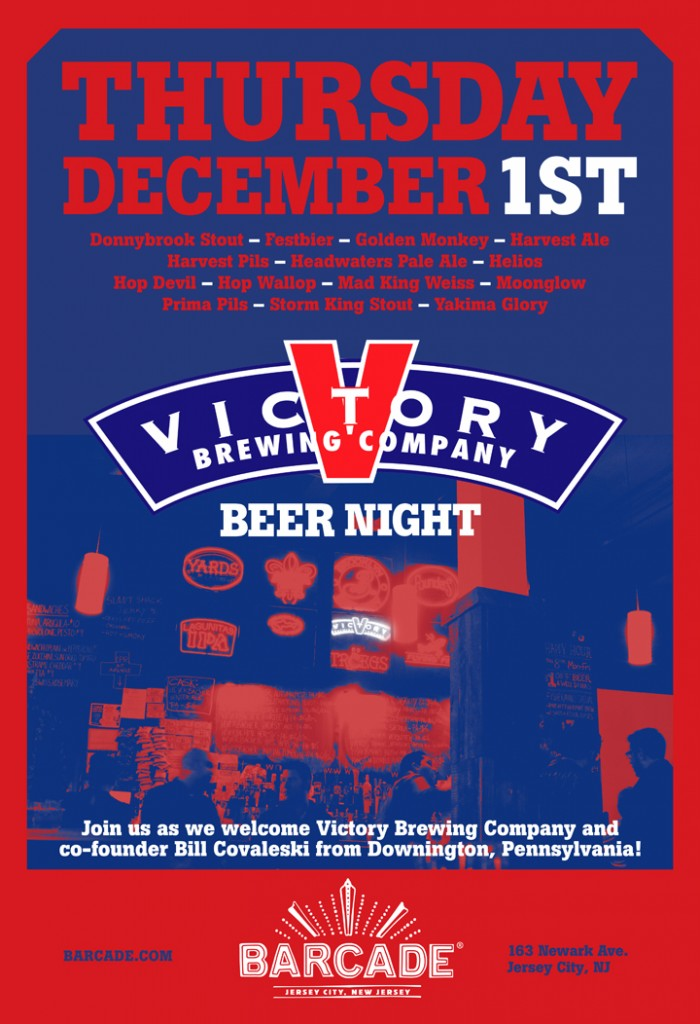 VictoryNight12.01.11 700x1024 Event   Victory Brewing At Barcade Jersey City