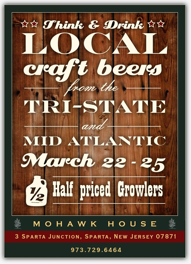 Think And Drink Local Flyer Think And Drink Local With Mohawk House