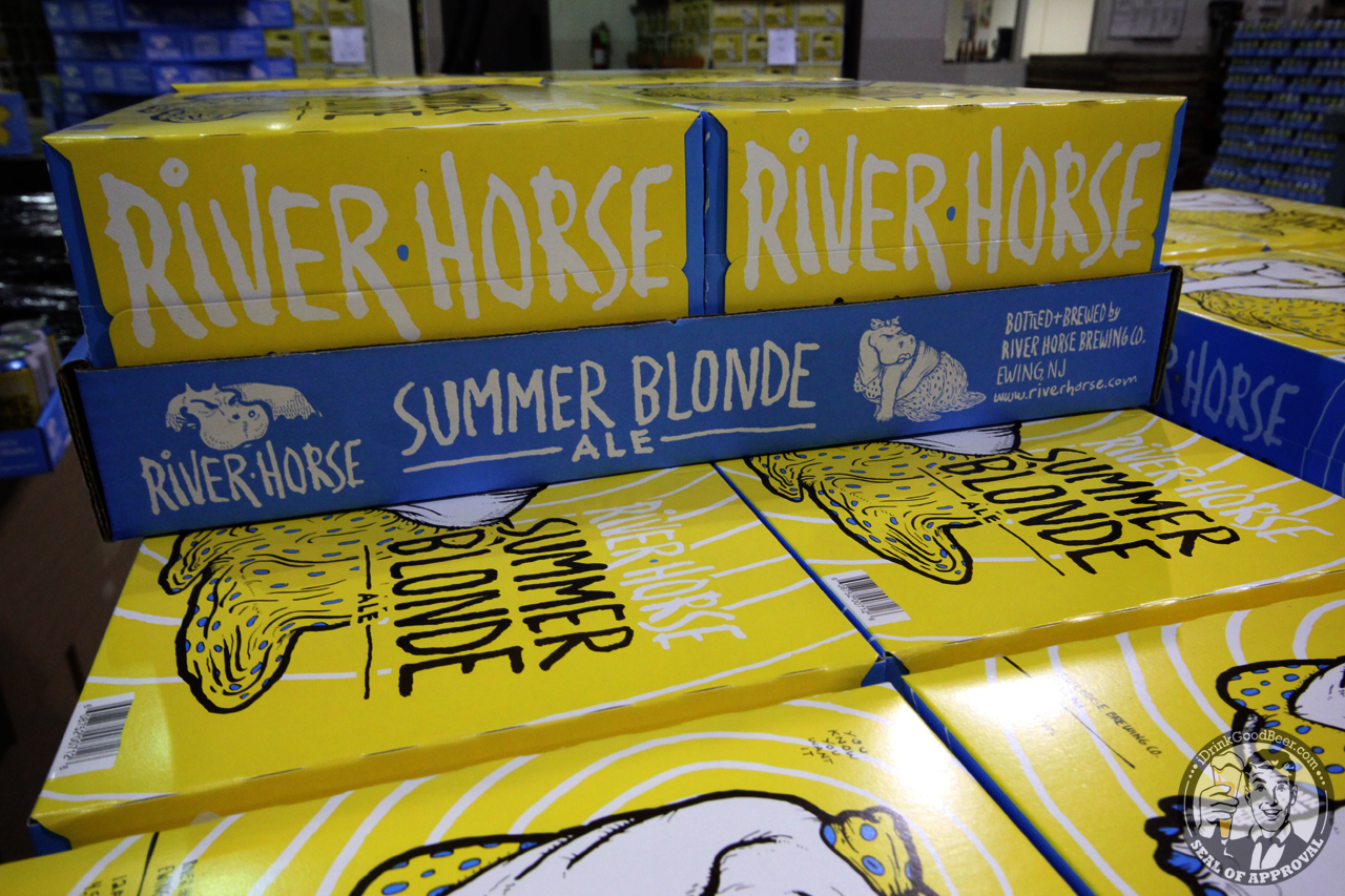 River Horse Summer Blonde Cans 2 I Drink Good Beer